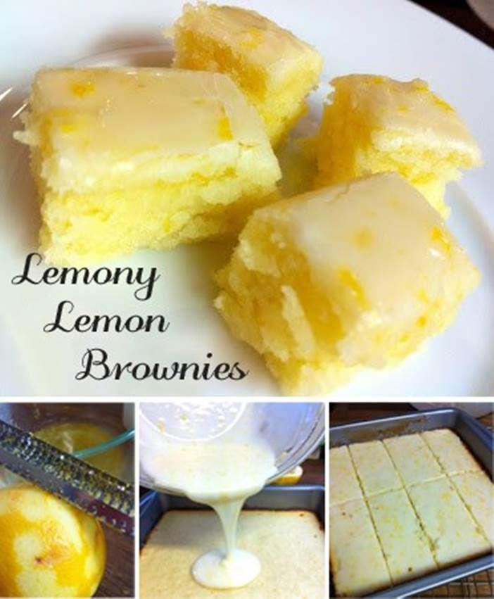 DIY Lemony Lemon Brownies | iCreativeIdeas.com Follow Us on Facebook --> https://www.facebook.com/icreativeideas