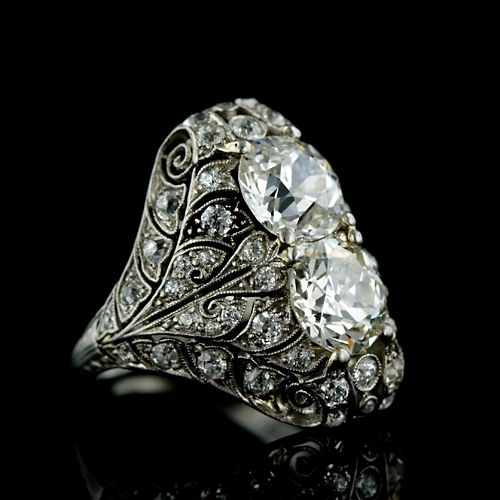 Edwardian Diamond Dinner Ring