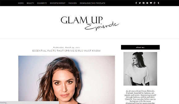 Free Glam Up Blogger Template | Blogger Templates Gallery | Blog ...