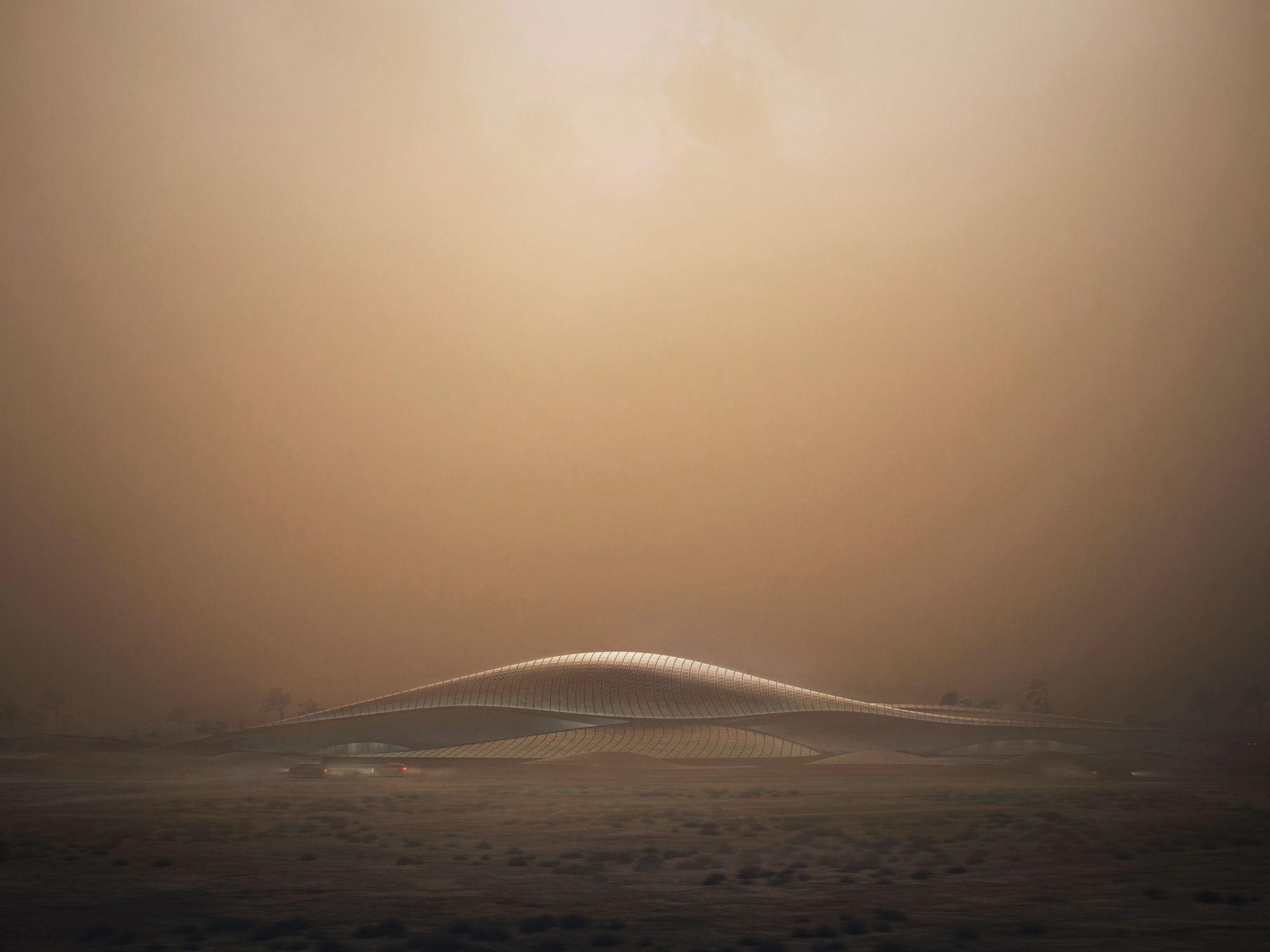 Zaha Hadid diseña la sede principal para Bee'ah inspirada en una duna
