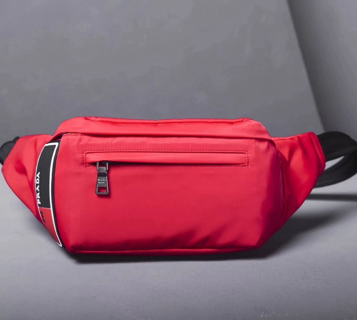 dbcdb6b7e00e Prada Nylon Small Belt Bag 2VL008 Red 2018