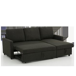 Sofa Lit Sectionnel Reversible En Lin Gris Fonce 00378004 Economax Outdoor Sofa Outdoor Furniture Outdoor Decor