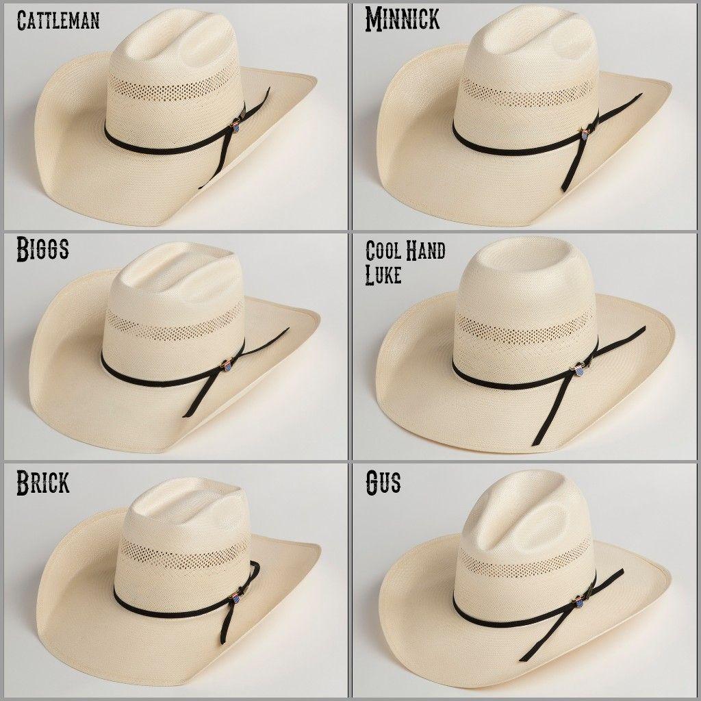 Basic Hat Shapes Cowboy Hat Styles Cowboy Hats Felt Cowboy Hats