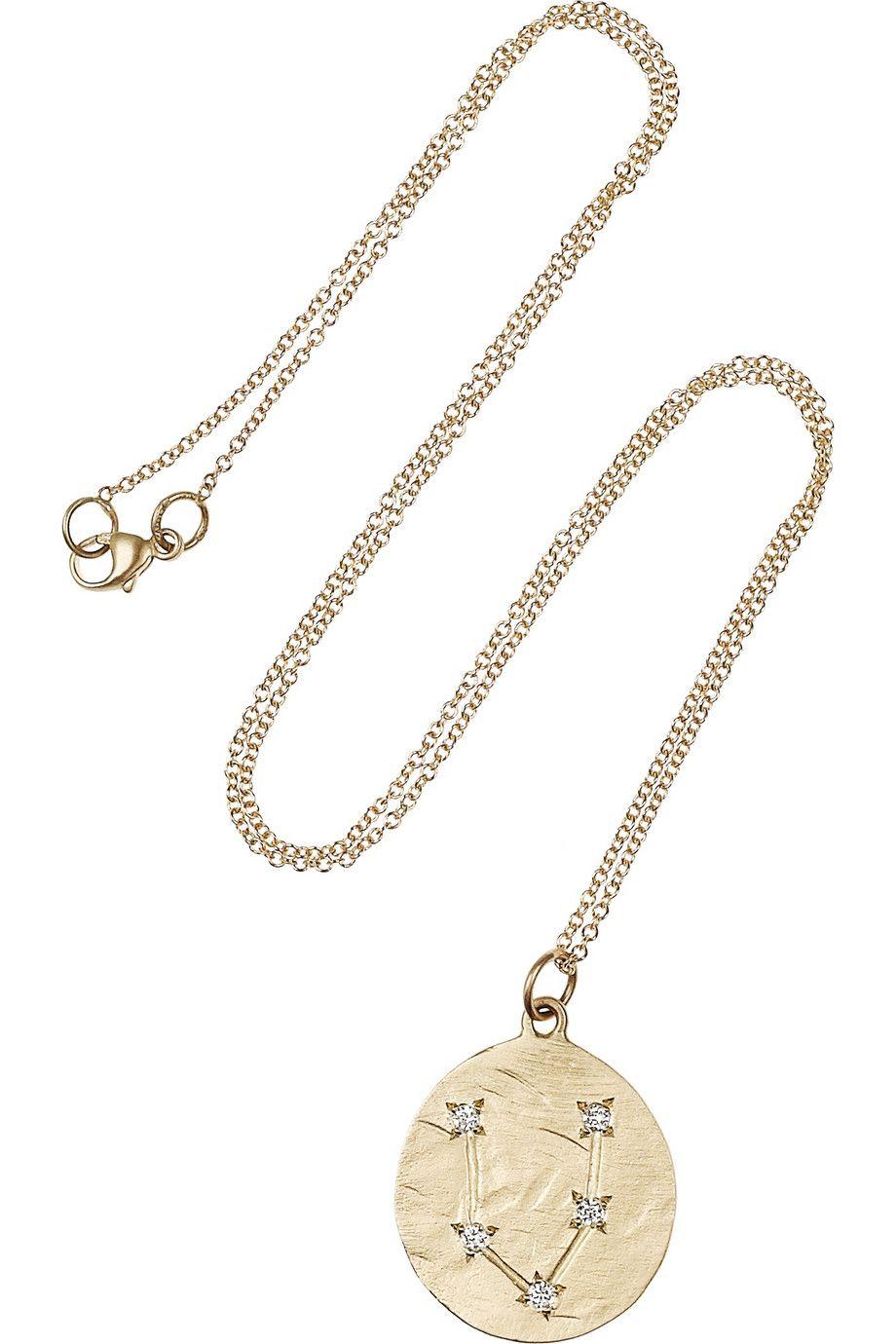 Brooke Gregson Pisces 14-karat Gold Diamond Necklace 67e2i6F5n