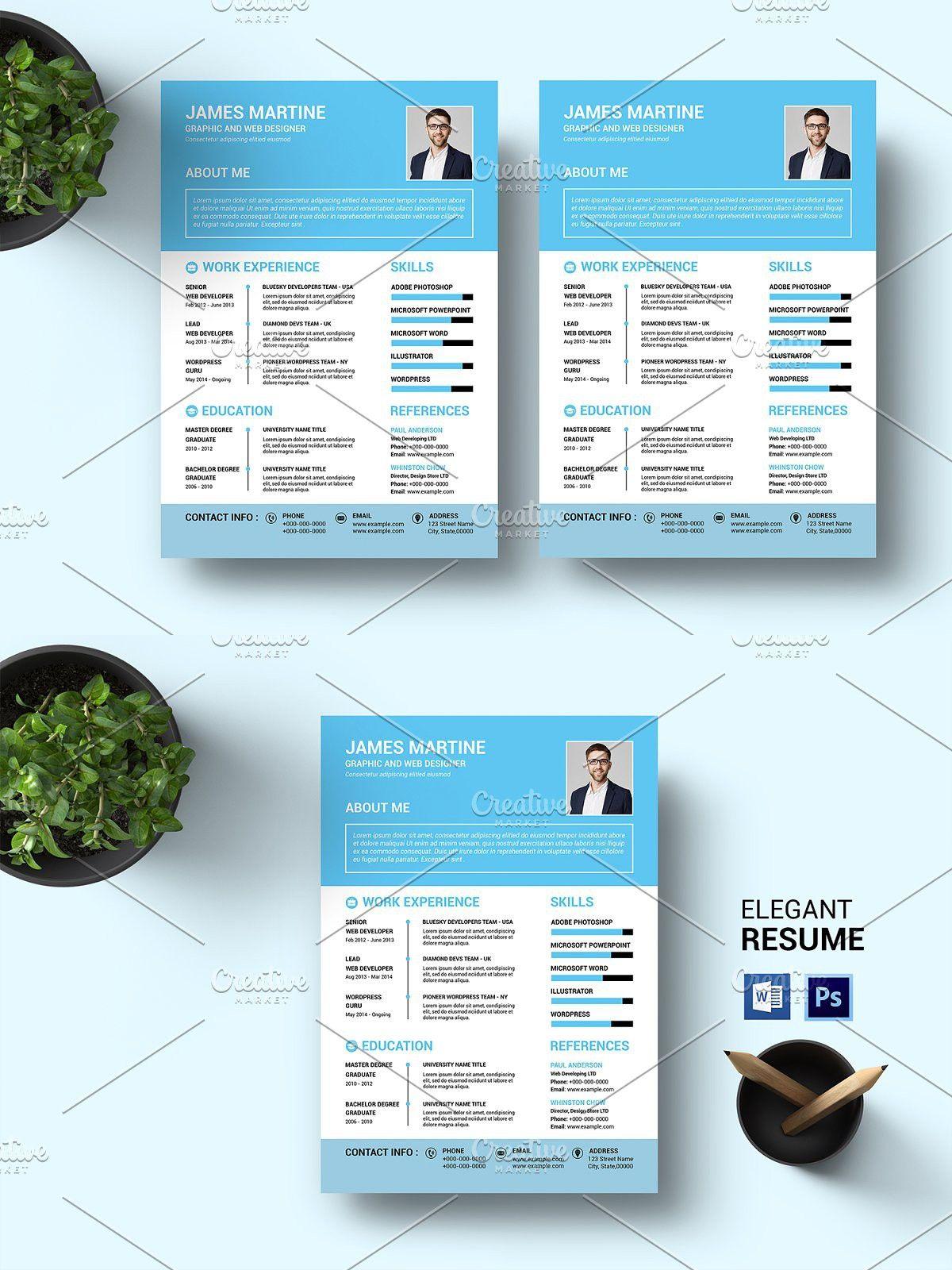 Clean Resume V48 Clean resume, Resume, Clean resume template