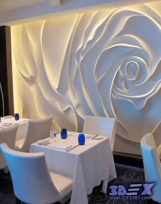 Decorative Wall Panels And Covering Modern Gypsum