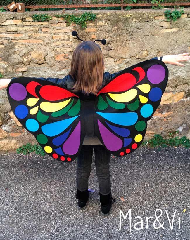 Disfraces caseros para Carnaval  la mariposa y la oruga  cd2b80e641d