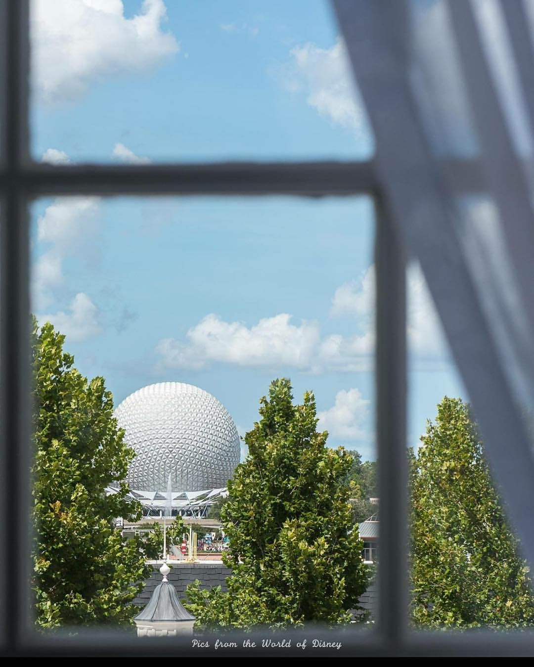"""Laurie Sapp (@picsfromtheworldofdisney) on Instagram: """"A little different view of Spaceship Earth.  Where am I?"""""""