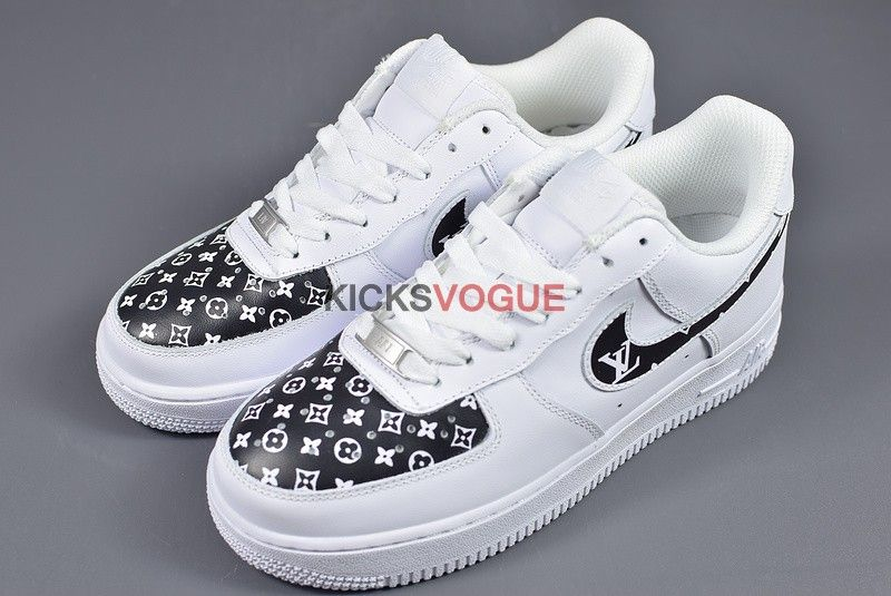 929a29832a92 Custom LV Nike Air Force 1 Louis Vuitton White Black