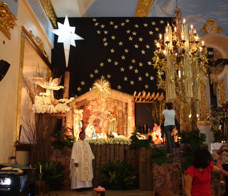 Christmas decoration ideas for a church - Candon Church Christmas Decor With Fr Vet 08 1