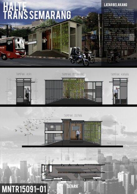 Sayembara miniatur undip halte trans semarang architecture