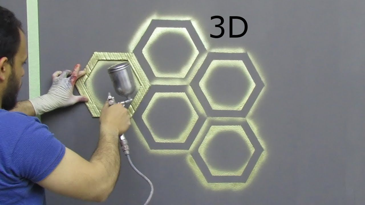 بقطعة كرتون اصنع بنفسك ديكور خلية النحل ثري دي Youtube Wall Art Diy Paint Wall Paint Designs 3d Wall Painting