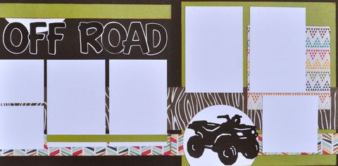 Off Road - 12x12 Scrapbook Page KIt