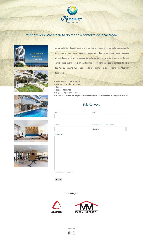 Landing Page - Miramar Residencial