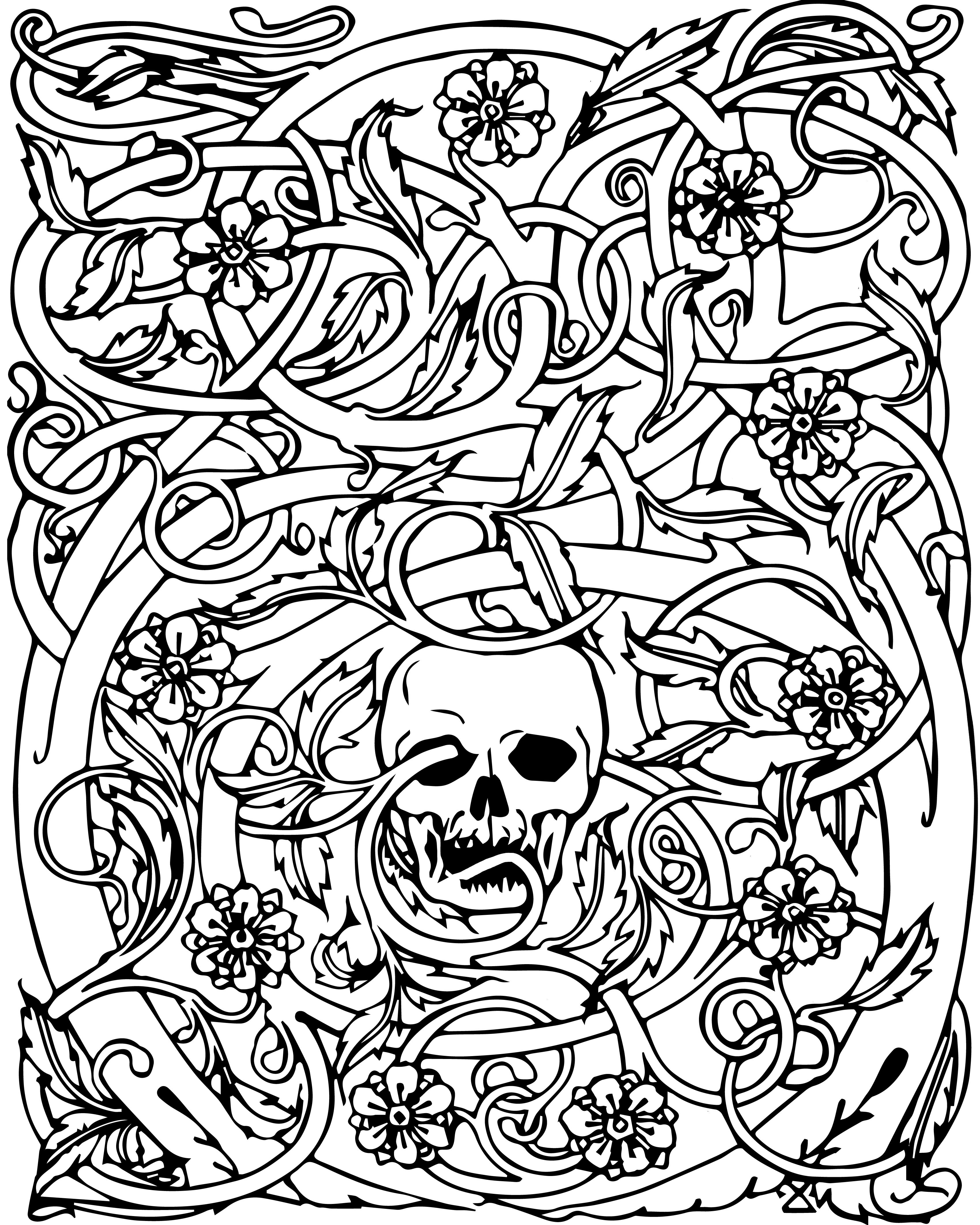 Free Adult Halloween Coloring Pages Skull Coloring Pages
