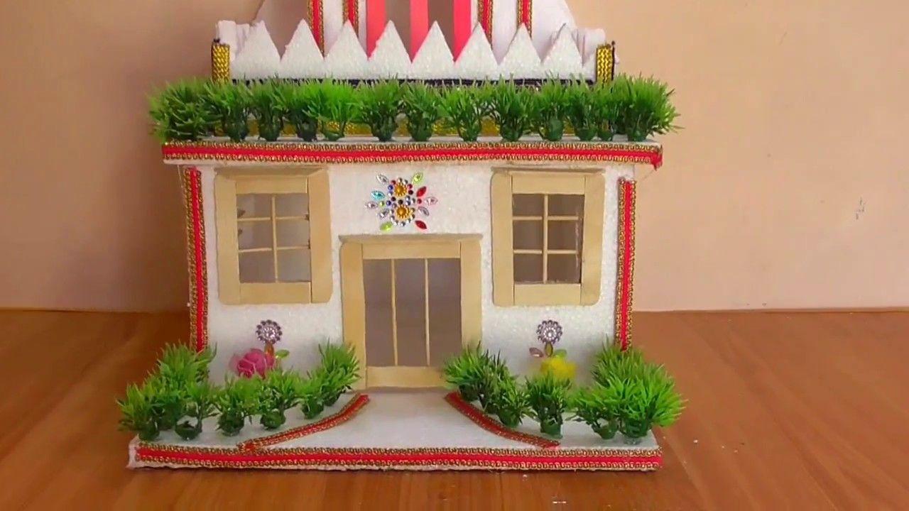 Diy Thermocol House How To Make Thermocol Mini House