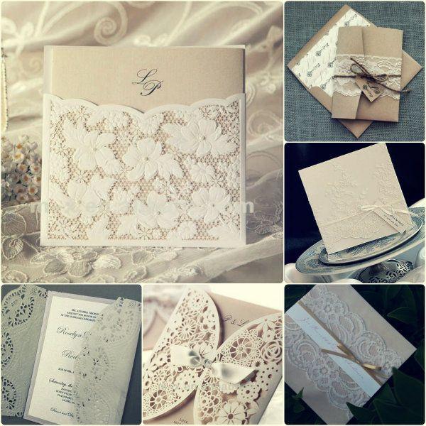 vintage spitze hochzeit einladungen wei wedding invites. Black Bedroom Furniture Sets. Home Design Ideas