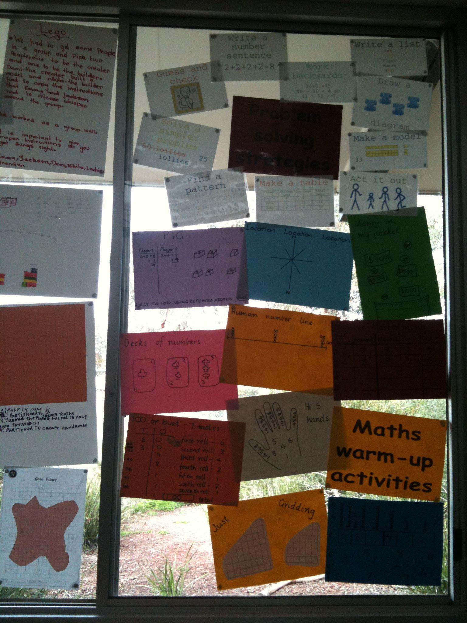 Maths Warm Up Wall