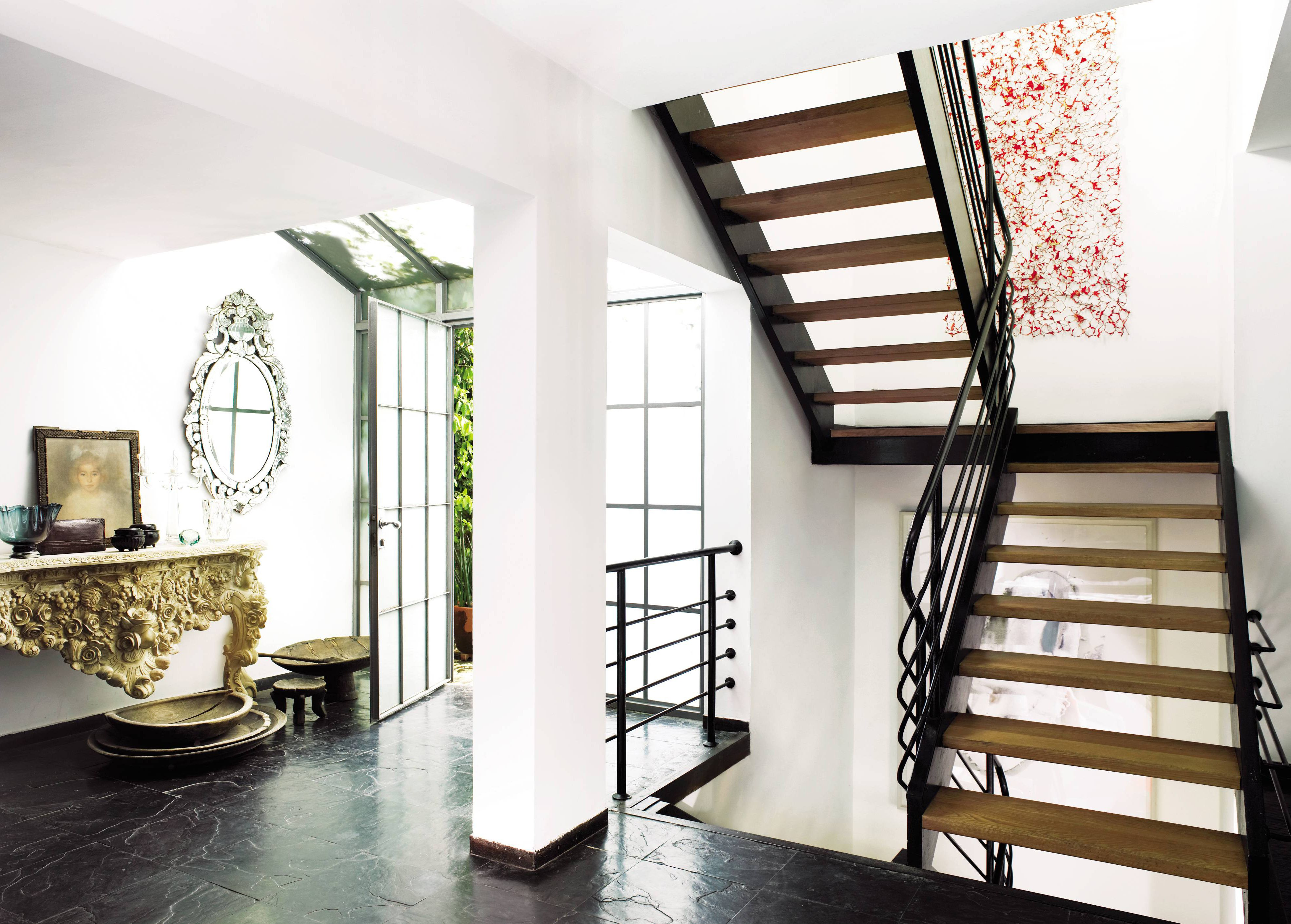 Best Excellent Two Levels Open Staircase With Wooden Materials 640 x 480