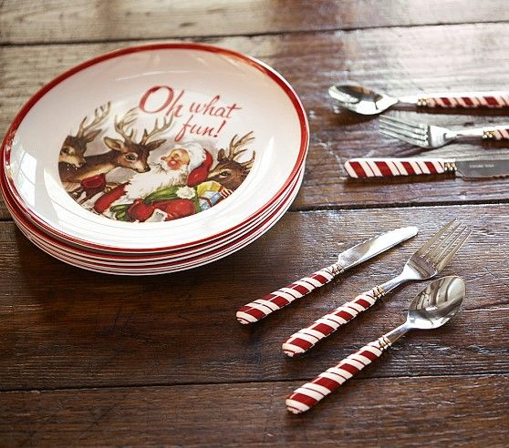 Christmas Candy Cane Utensil Set | Pottery Barn Kids. Christmas DinnerwareChristmas ... & Christmas Candy Cane Utensil Set | Pottery Barn Kids | Christmas ...