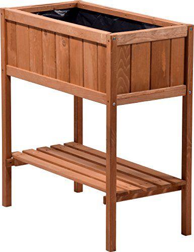Dobar Hochbeet Aus Holz Mit Ablageboden Fruhbeet Bausatz Hochbeet