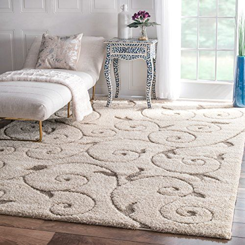 Soft And Plush Vine Swirls Ivory Shag Area Rugs 9 Feet 2 Inches By 12 Feet 9 2 X 12 Read More At The Image Link It Is An Area Rugs Shag Area Rug Rug Sale