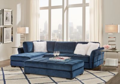 Best Largo Drive Indigo 3 Pc Sectional Living Room Living 400 x 300