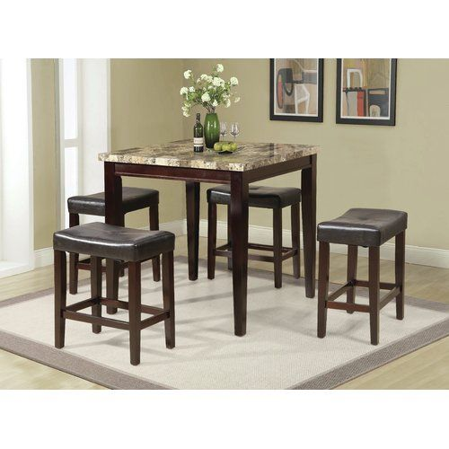 Found It At Wayfair Arline 5 Piece Pub Table Set Dinette Sets Counter Height Dining Table Set Counter Height Table Sets