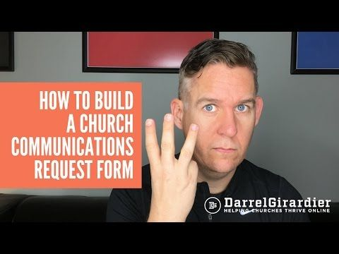 How to Build a Church Communications Request Form - Church - request form