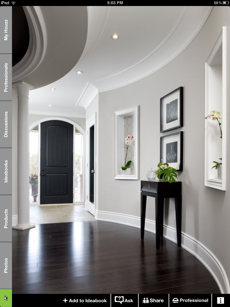 Clean looking i love the dark wood color the white crown - Crown exterior wood paint colours ...
