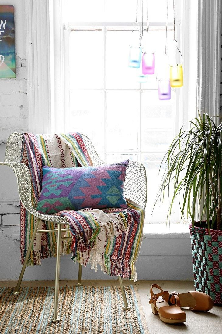Magical Thinking Woven Stripe Throw Blanket #urbanoutfitters