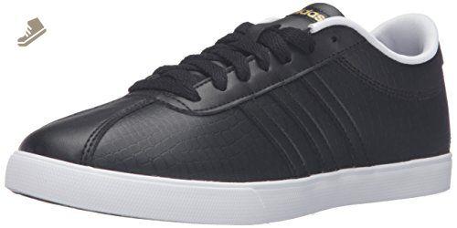 Adidas performance le courtset w della scarpa, nero / nero