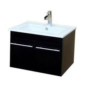 Bellaterra Home Black Integral Single Sink Bathroom Vanity With