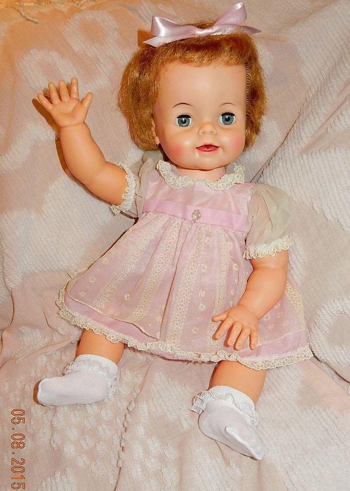 Vintage 1962 Ideal 23 Quot Quot Bibsy Quot Big Baby Doll D 20 1 D 23