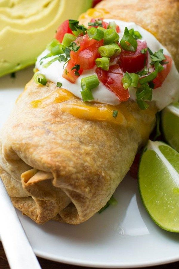Baked Chicken and Rice Chimichangas #dessertfoodrecipes