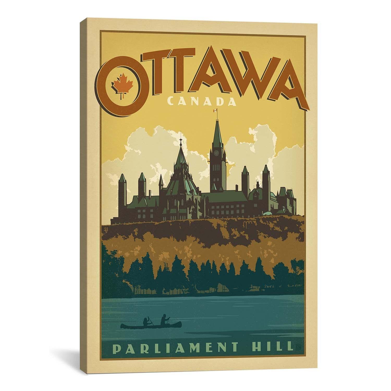 iCanvasART Anderson Design Group Parliament Hill - OttawaCanada ...