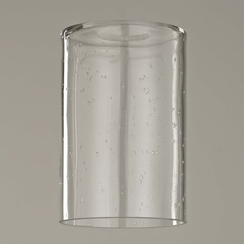 6 Inch Tall Clear Seeded Cylinder Glass Shade With 1 5 8 Fitter At