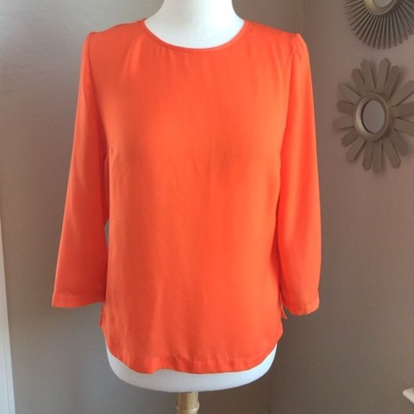 Orange Flame Blouse. 100% Polyester. In excellent condition, like new. Tops Blouses