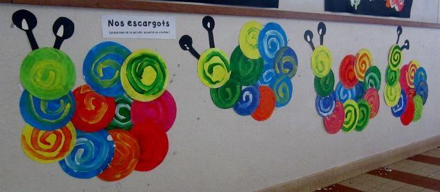 Le site de l 39 cole maternelle les orchid es nos productions nos escargots spirales ecole - Escargot maternelle ...