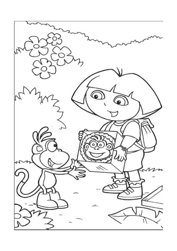 Dibujos para Colorear Dora la Exploradora 8 | Dibujos para colorear ...