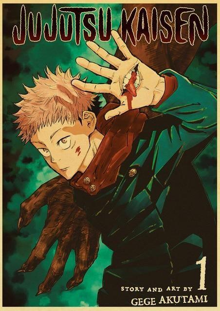 Jujutsu Kaisen Posters In 2021 Manga Covers Jujutsu Anime