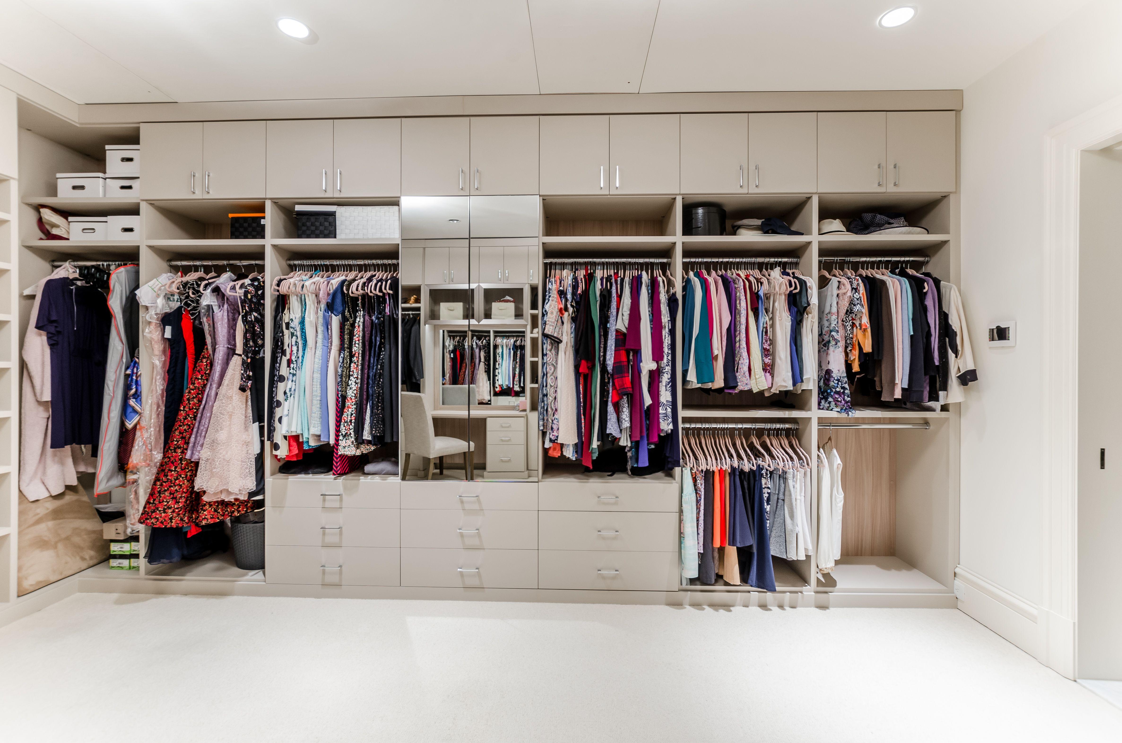 Expansive Walk In Closet Design Closet Storage Design California Closets Custom Storage Solutions