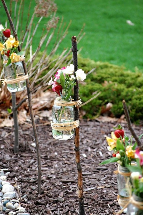 J'ai toujours trop peu de place pour les fleurs. Alors allons-y! #jardin # décoration de jardin …