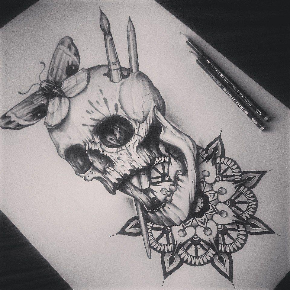 Skull / Mandalla by EdwardMiller.deviantart.com on @DeviantArt