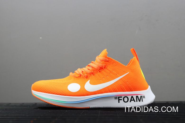 designer fashion coupon codes the best attitude Women/Men Off-White X Nike Zoom Fly Mercurial Flyknit Orange Volt ...
