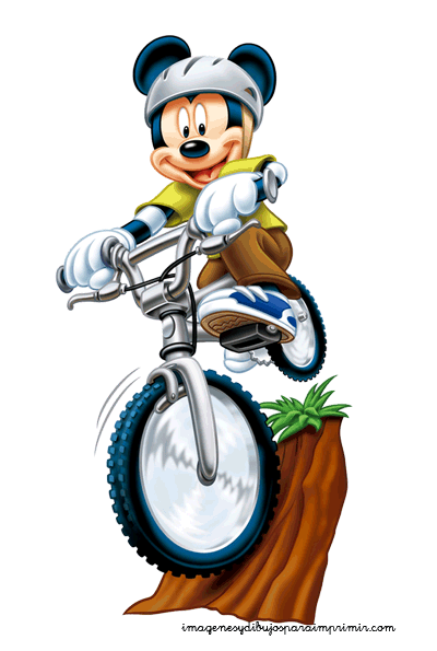 Mickey mouse en bicicleta | Minnie & Mickey | Pinterest | Mickey ...