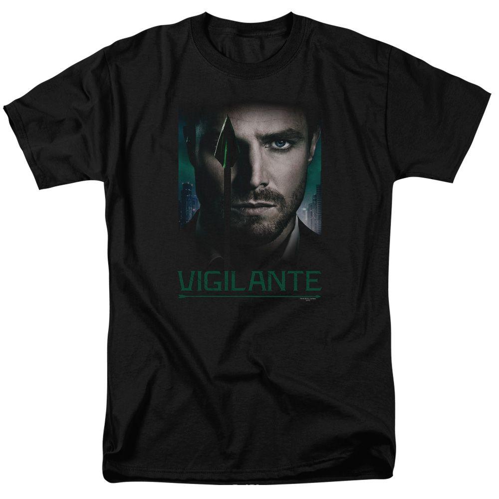 Arrow TV Show GOOD EYE VIGILANTE Green Arrow Licensed Juniors V-Neck Tee Shirt