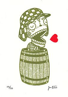 Chavo del Ocho Calavera Gocco Print | Flickr - Photo Sharing!