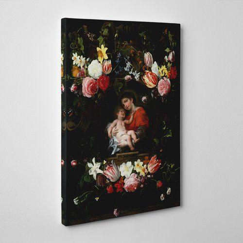 Big Box Art 'Garland of Flowers' by Daniel Seghers Painting Print on Canvas | Wayfair.co.uk