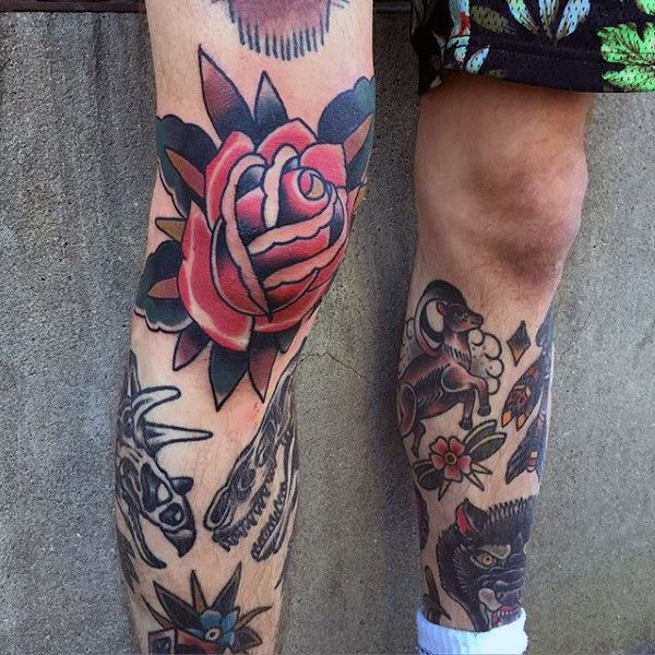 Top 89 Knee Tattoo Ideas 2020 Inspiration Guide Knee Tattoo Traditional Rose Tattoos Tattoos For Guys